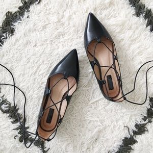 Topshop Kingdom Ghillie Lace Up Flats